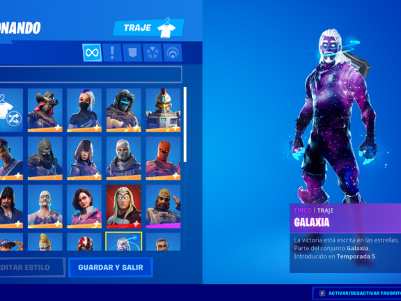 Special [month] [year] Account with Galaxy Skin FA